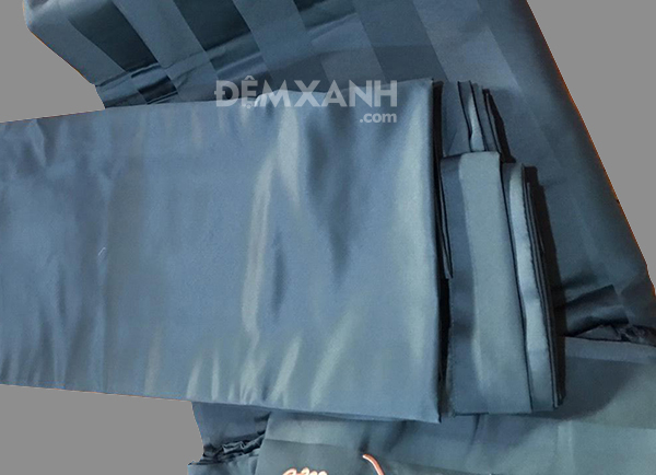 Chăn ga gối khách sạn cotton K & Q kẻ sọc 3cm KQ03