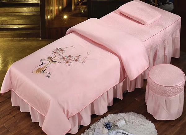 Bộ Chăn ga gối Spa vải Modal thêu hoa