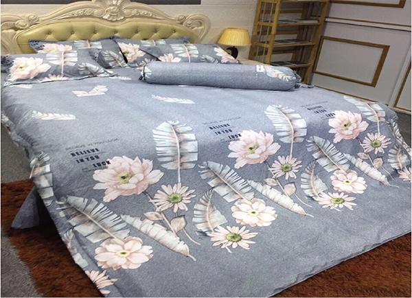 Chăn ga gối Olympia vải cotton Hàn 09