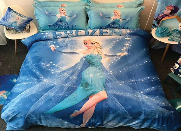 Chăn ga gối Olympia hoạt hình OHH2003 công chúa Elsa
