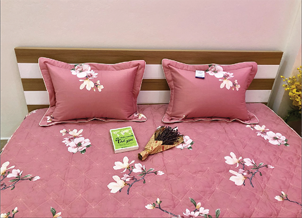 Bộ ga gối chun Olympia chần vải Cotton Hàn 15