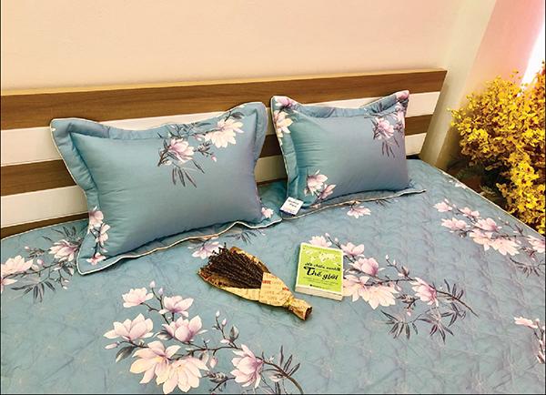 Bộ ga gối chun Olympia chần vải Cotton Hàn 20