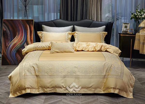 Bộ chăn ga gối lụa tơ tằm cao cấp King luxury 09
