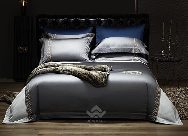 Bộ chăn ga gối lụa tơ tằm cao cấp King luxury 10