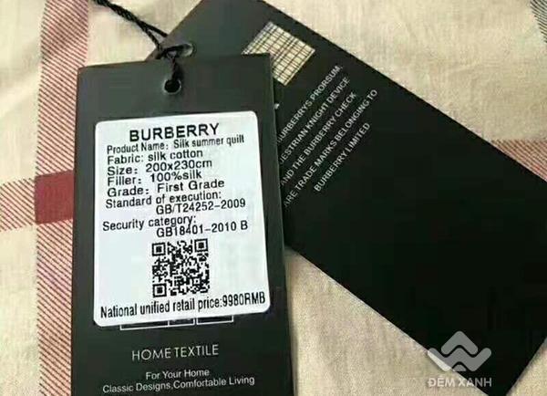Chăn hè thương hiệu Burberry