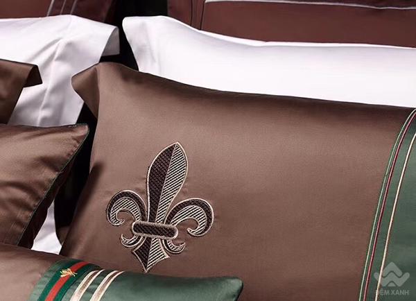 Bộ chăn ga gối lụa tơ tằm cao cấp King luxury 17