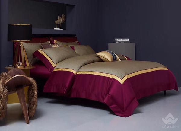 Bộ chăn ga gối lụa tơ tằm cao cấp King luxury 19
