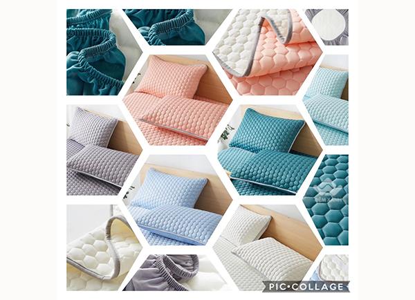 Thảm trải giường cao su non màu xanh ngọc