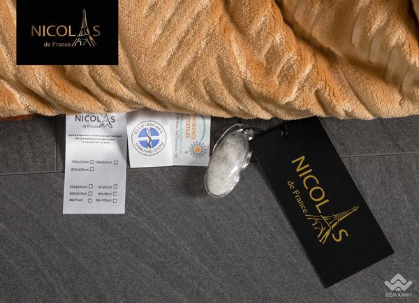 Chăn lông cừu Pháp Nicolas Princess màu vàng NCL2004