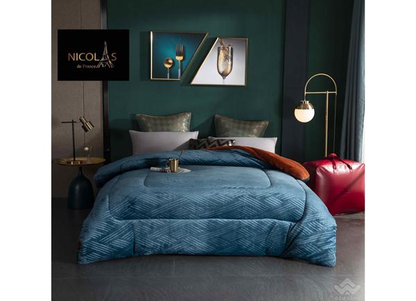 Chăn lông cừu Pháp Nicolas Princess màu xanh