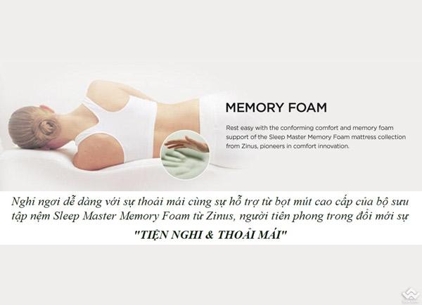 Đệm Zinus Memory Foam Hữu Cơ